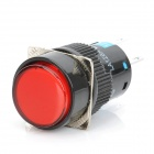 DIY 5-Pin Round Push Button Switch Module w/ Red Indicator - Black (DC 12V)