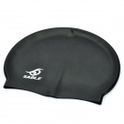 Soft Silicone Swimming Hat / Cap for Adult - Black