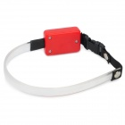 3-Mode Red Light LED Flashing Dog Collar - Red + Black (2 x CR2032)