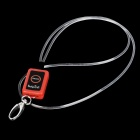 Optical Fiber 3-Mode Red Light Pet Decoration Necklace Strap - Red + Black
