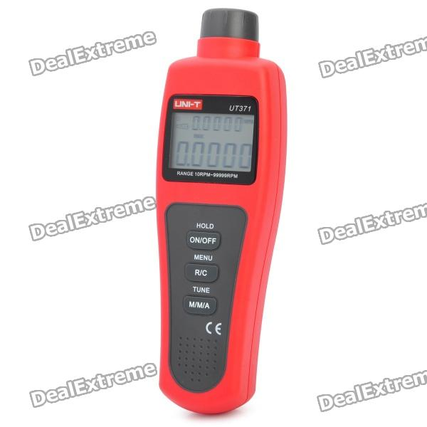 "UNI-T UT371 1.8"" LCD Digital Tachometer - Red + Black (10-99999 RPM / 4 x AA)"