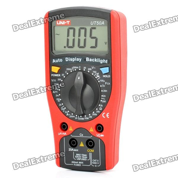 UNI-T UT50A 2.5 LCD Digital Multimeter - Red + Grey (1 x 9V) женские часы la mer collections chain lmscw1007wht