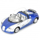 iOS/Android Controlled Rechargeable R/C Car (Blue + Silver)