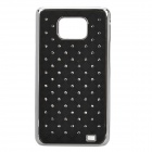 Protective Imitation Diamond Plastic Back Case for Samsung i9100 - Black
