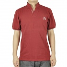 Fashion Short Sleeves Cotton T-Shirt - Red (Size-M)