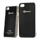 2000mAh Rechargeable External Battery Back Case w/ Plastic Case for iPhone 4 - Black