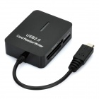 Multi-in-One Memory Card Reader für Samsung Galaxy S2 i9100 / I9220 + More - Schwarz
