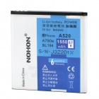 NOHON Replacement 3.7V 1550mAh Battery Pack for Lenovo Lephone A520