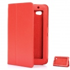 Protective PU Leather Case Holder for Samsung P6200 - Red