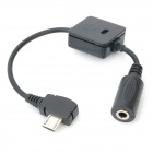 Micro USB Male to 3.5mm Audio Jack Female Adapter Cable for Motorola V8 - Black