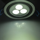 3W 240~260LM 6000~6500K 3-LED White Light Ceiling Lamp (180~265V)