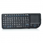 Handheld Rechargeable Bluetooth V2.0 + EDR Wireless Spanish Keyboard with TrackPad and Red Laser