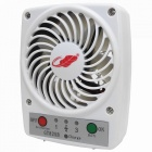 Mini Portable USB Rechargeable High Power 3-Speed Fan for Hot Weather - White