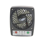 Mini Portable USB Rechargeable High Power 3-Speed Fan for Hot Weather - Black