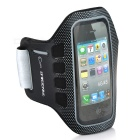 Sports Gym Arm Band Case for iPhone 4 / 4S / iPod Touch 4 - Black + Grey