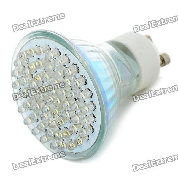 GU10 3.5W 6500K 420-Lumen 60-LED White Light Bulb (AC 85~265V) gu10 9w 6500k 810 lumen 18 led white light bulb ac 85 265v