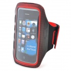 Sports Gym Arm Band Case for Iphone 4 / 4S / Ipod Touch 4 - Black + Red