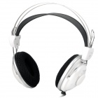 Wired Stereo Headphones Headsets w/ Microphone - White + Black (3.5mm Jack / 215cm-Cable)