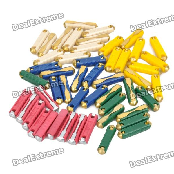 5A / 16A / 20A / 25A / 30A East Europe Type Fuses Set for BMW / Mercedes-Benz (50-Piece Pack)