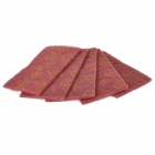 3M Nylon Industrial Cleaning Cloth - Deep Red (5-Piece Pack)