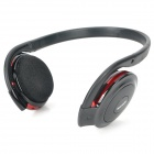 Rechargeable Bluetooth V2.0 + A2DP MP3 Player Stereo Headset w/ TF - Black + Red (240-Hour Standby)