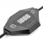 "Stylish 0.7"" LCD FM Transmitter with Microphone / Car Charger for iPhone / iPad - Black"