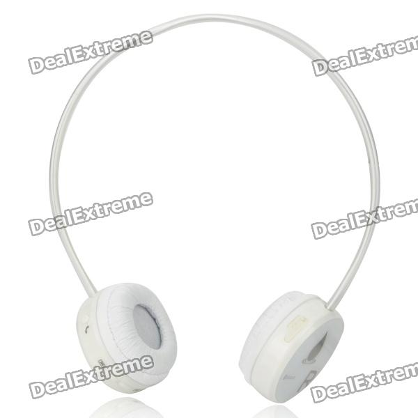 Bluetooth V2.1 Wireless Headset - White (6-Hour Talk / 150-Hour Standby)