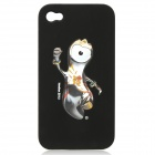 London 2012 Summer Olympics Protective Case for iPhone 4 / 4S - Mascot Wenlock (Black)