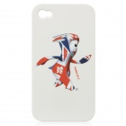 London 2012 Summer Olympics Protective Case for iPhone 4 / 4S - Mascot Mandeville (White)