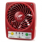 Mini Portable USB Rechargeable High Power 3-Speed Fan for Hot Weather - Red
