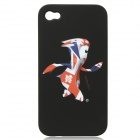 London 2012 Summer Olympics Protective Case for iPhone 4 / 4S - Mascot Mandeville (Black)