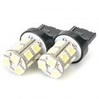 T20 1.5W 7000K 18-Lumen 13-5050 SMD LED White Light Car Braking Lamps (DC 12V / Pair)
