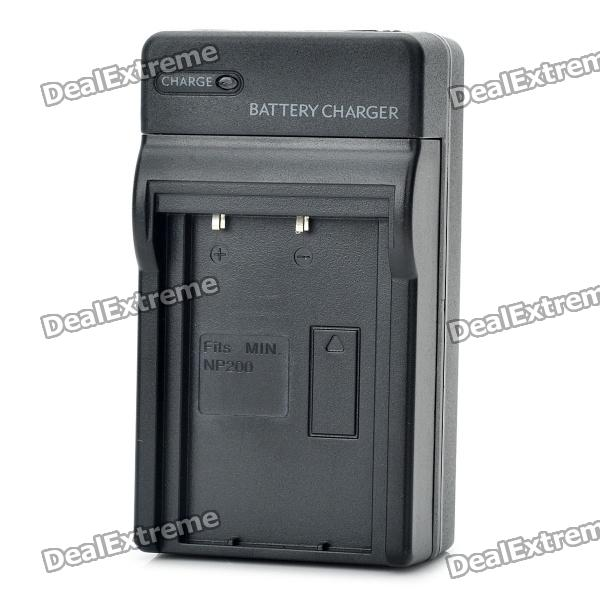 Camera Battery Charger for Minolta NP-200 (AC 100~240V / 2-Flat-Pin Plug) camera battery charger for sony fc10 fc11 ac 100 240v 2 flat pin plug