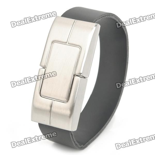 Cool Bracelet Style USB 2.0 Flash Drive - Silver + Black (16GB) от DX.com INT