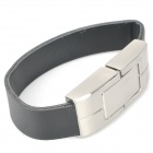 Cool Bracelet Style USB 2.0 Flash Drive - Silver + Black (32GB)