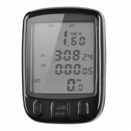 "2"" LCD Electronic Bicycle Computer / Speedometer - Black (1 x CR2032)"