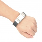 Cool Bracelet Style USB 2.0 Flash Drive - Silver + Black (8GB)