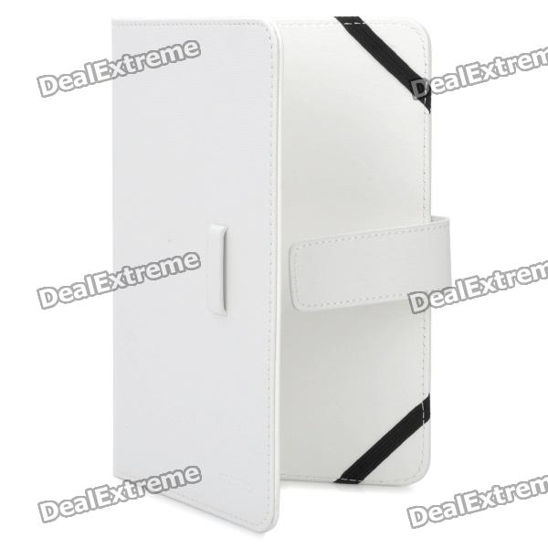 """Universal Protective PU Leather Case for 7"""" Tablet PC - White"""