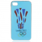 London 2012 Summer Olympics England Flag Logo Protective Case for iPhone 4 / 4S (Blue)