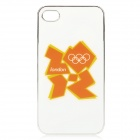 London 2012 Summer Olympics Protective Case for iPhone 4 / 4S - Official 2012 Logo (Orange + White)