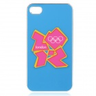 London 2012 Summer Olympics Protective Case for iPhone 4 / 4S - Official 2012 Logo (Pink + Blue)