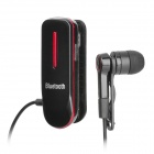 Stylish Clip on Bluetooth V2.1 Headset - Black (8-Hour Talk / 180-Hour Standby)