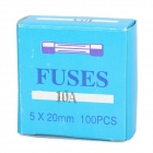 10A Tube Fuse for Car Audio (100-Piece Pack)
