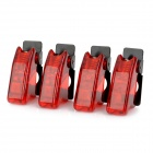 DIY Toggle Switch Flip Safety Covers Guards - Dark Red (4-Pack)