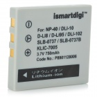 ISMARTDIGI Replacement FUNP40 / DLI8 / BCB7 3.7V 750mAh Battery for Fujifilm Finepix 40 / 402 + More