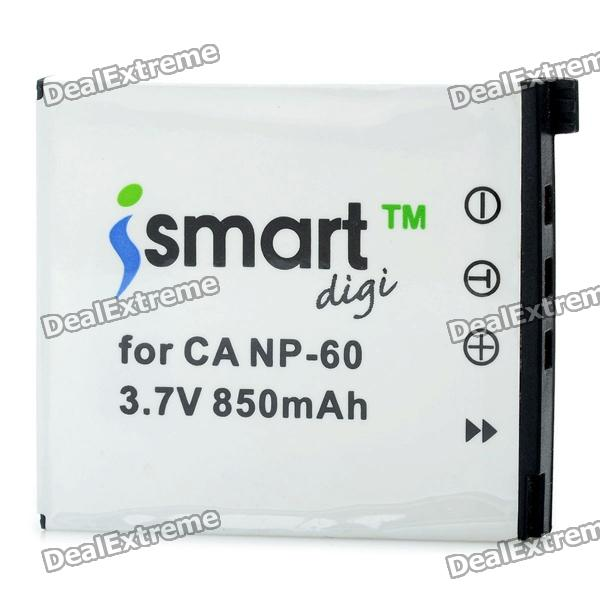 ISMARTDIGI Replacement NP-60 3.7V 850mAh Battery for Casio Exilim Zoom EX-Z33 / EX-Z90 + More bp 208 compatible 850mah battery pack for canon mvx1sidc10 dc20 more