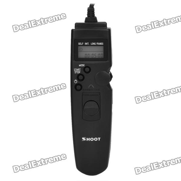 Shoot TC-DC2 1.0 LCD Camera Timer Remote Cord for Nikon D90 / D5000 / D7000 / D3100 (1 x CR2032) genuine hongdak rm s1am 1 2 lcd wired remote control camera timer for sony alpha dslr a100 more