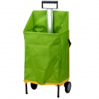 Folding Shopping Trolley Cart - Yellow + Green