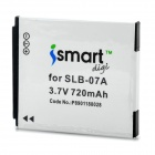 ISMARTDIGI Replacement SLB-07A 3.7V 720mAh Battery for Samsung ST50 / ST500 / ST550 + More