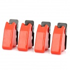 DIY Toggle Switch Flip Safety Covers Guards - Red (4-Pack)